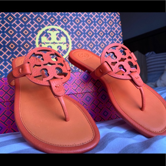Tory Burch miller-tumbled leather sandals